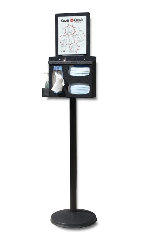 Locking Respiratory Hygiene Stand